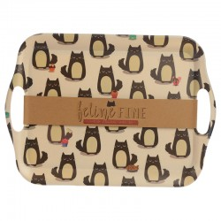 Bambootique Eco Friendly Cat Design Tray