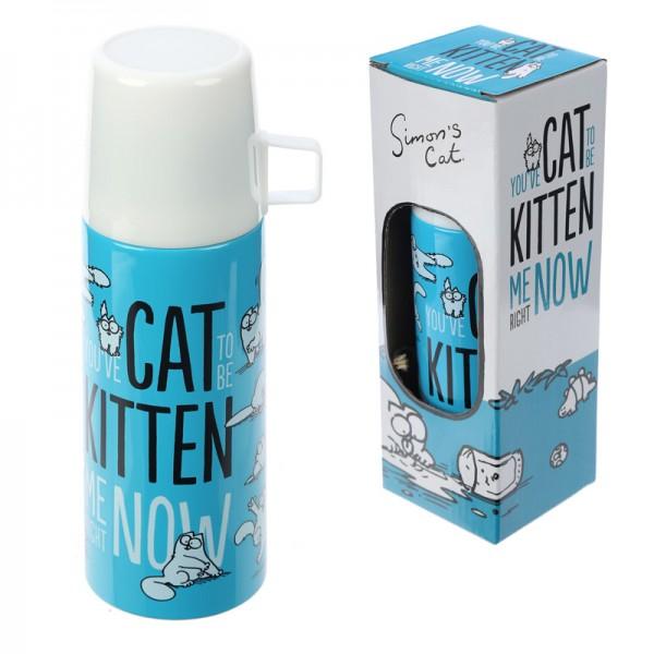 Funky 350ml Flask - Simon's Cat Design
