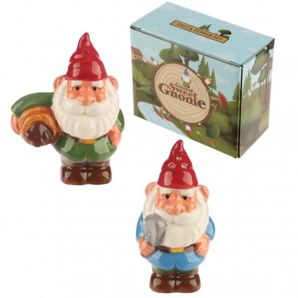 Cheeky Garden Gnome Salt and Pepper Set